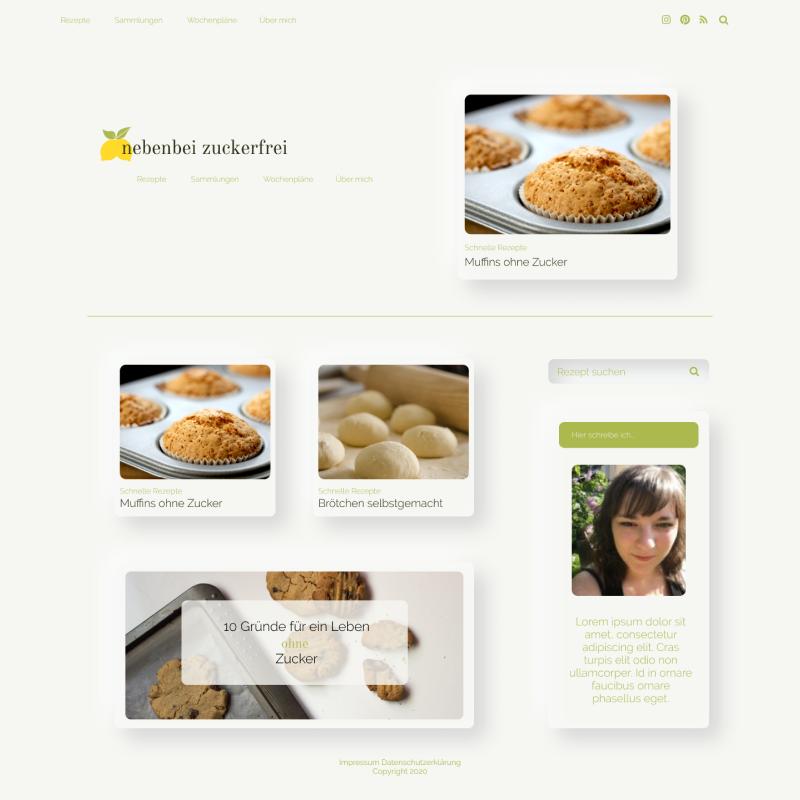 Webdesign nebenbei zuckerfrei neumorph
